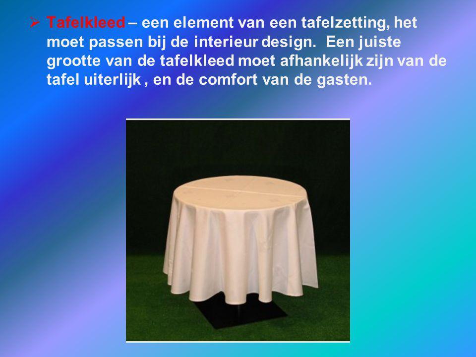 Tafelkleed – een element van een tafelzetting, het moet passen bij de interieur design.