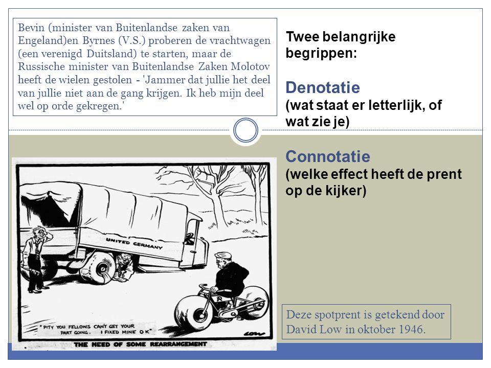 Denotatie Connotatie Twee belangrijke begrippen: