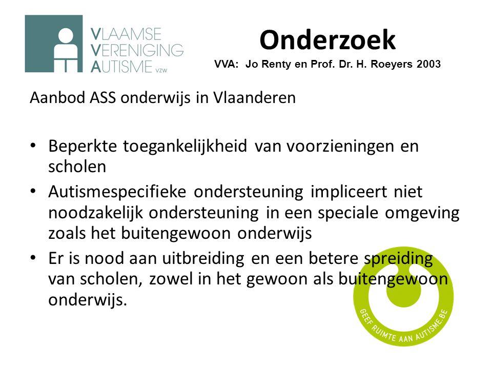Onderzoek VVA: Jo Renty en Prof. Dr. H. Roeyers 2003
