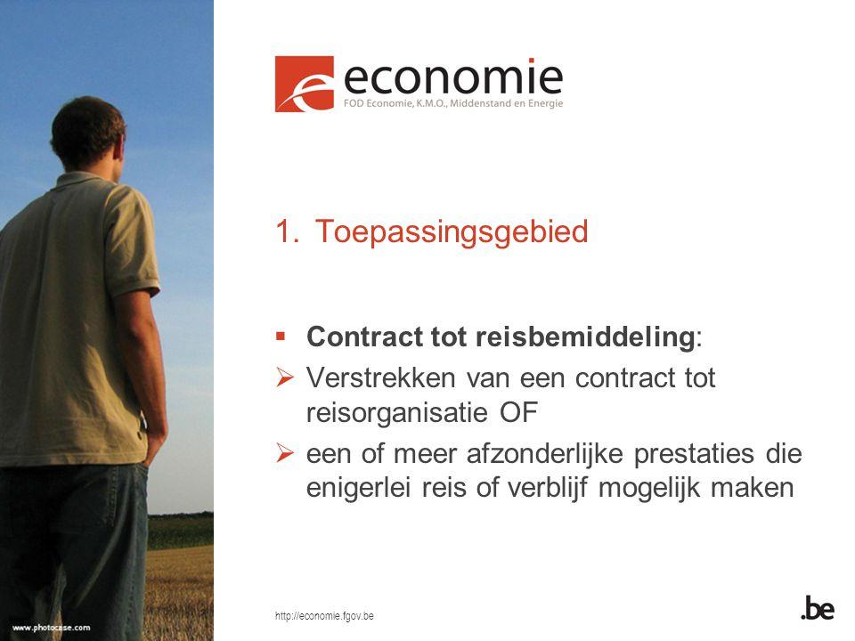 Toepassingsgebied Contract tot reisbemiddeling: