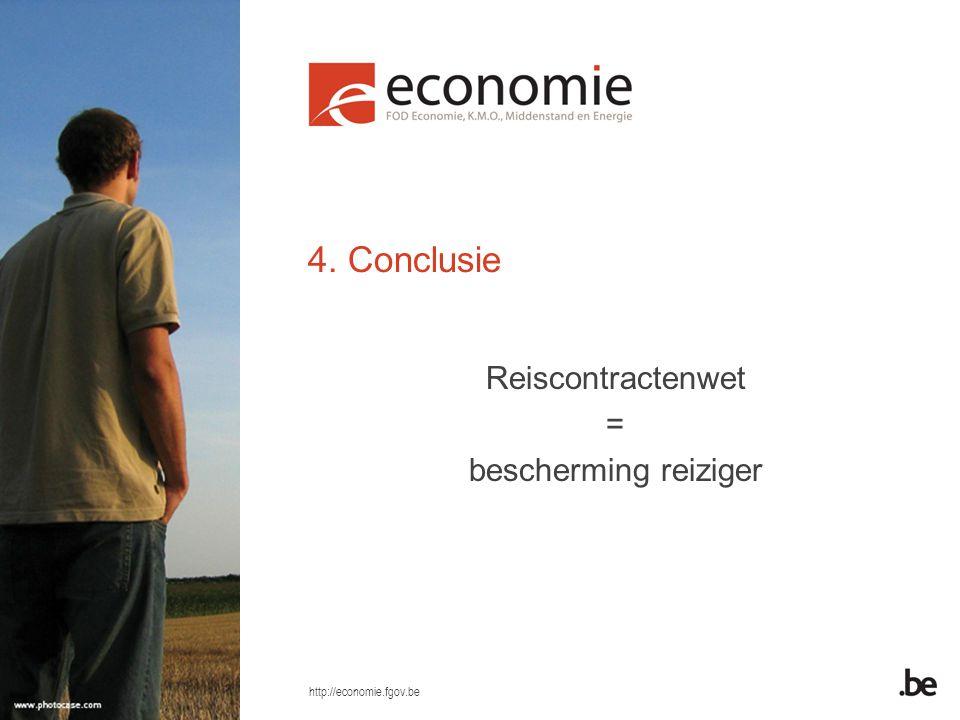 4. Conclusie Reiscontractenwet = bescherming reiziger