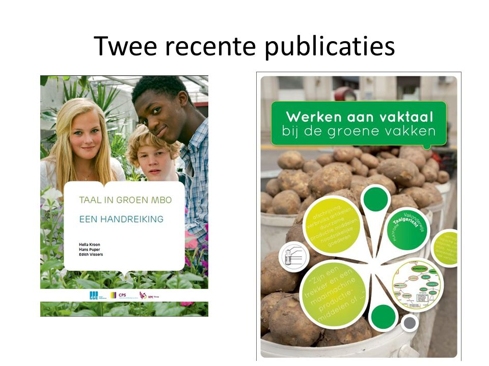 Twee recente publicaties