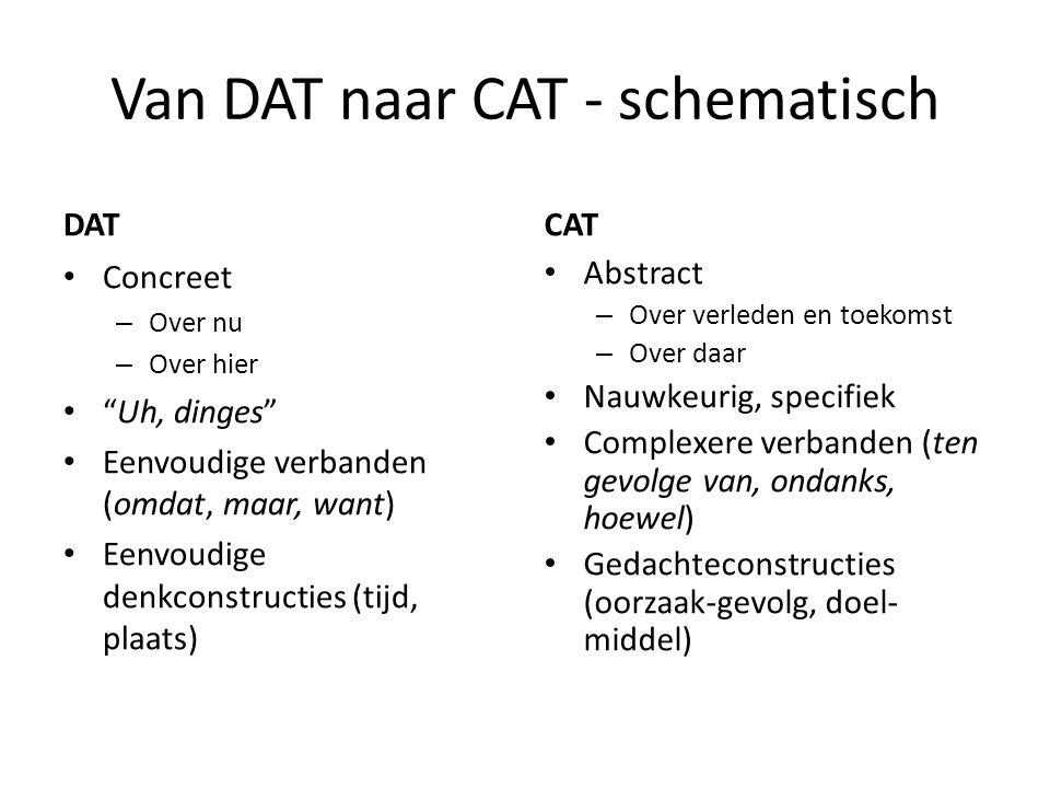 Van DAT naar CAT - schematisch