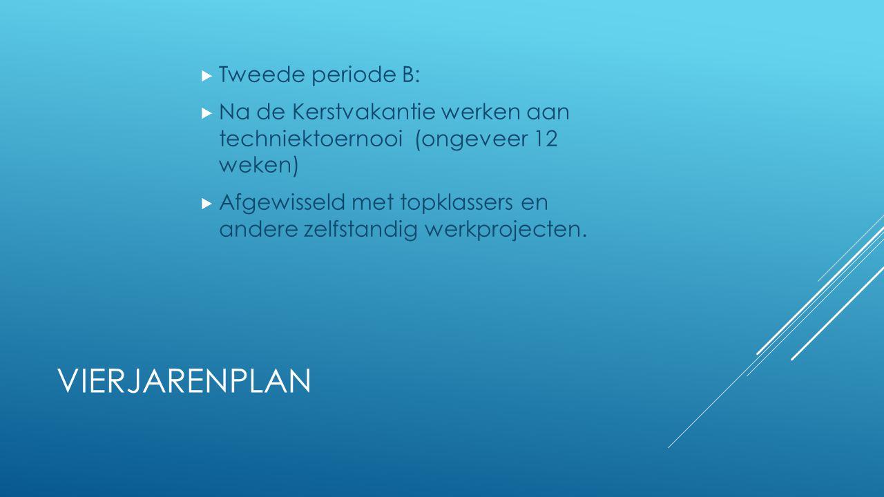 Vierjarenplan Tweede periode B: