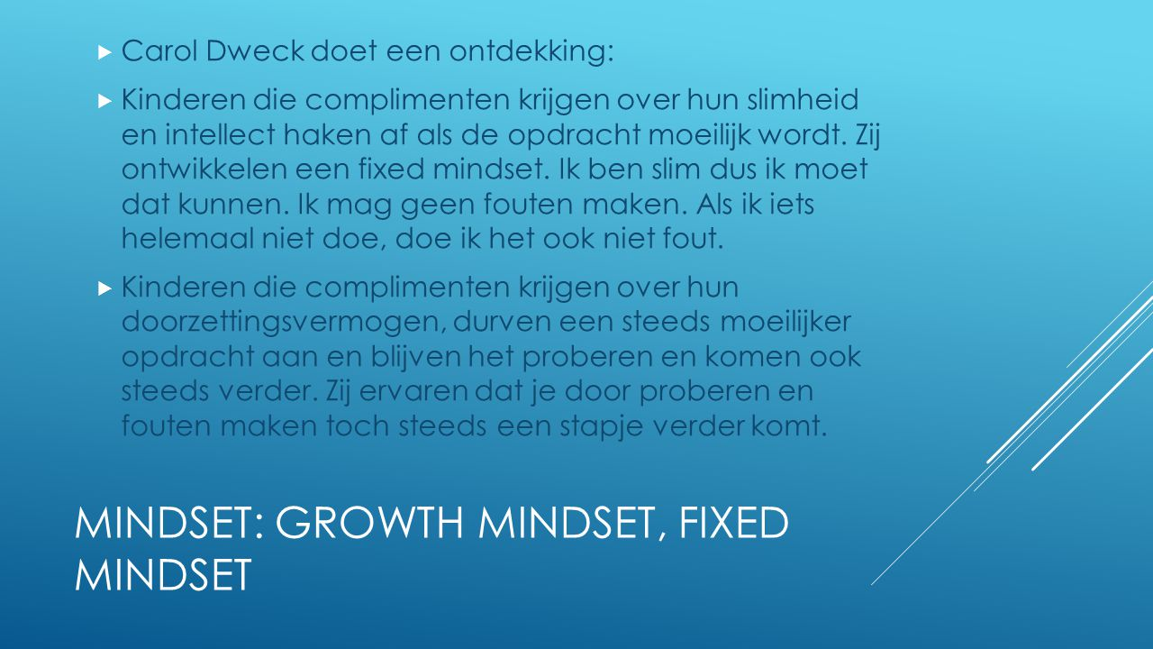MINDSET: GROWTH MINDSET, FIXED MINDSET