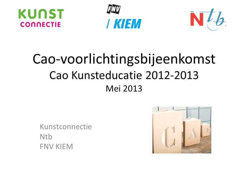 Cao-voorlichtingsbijeenkomst Cao Kunsteducatie 2012-2013 Mei 2013