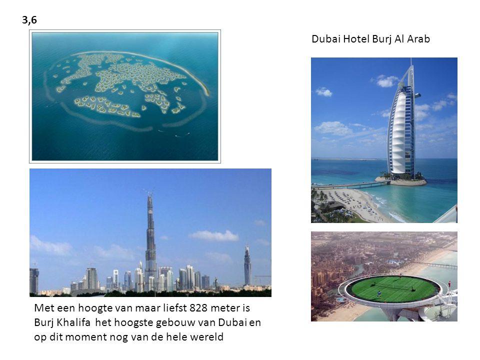 3,6 Dubai Hotel Burj Al Arab.