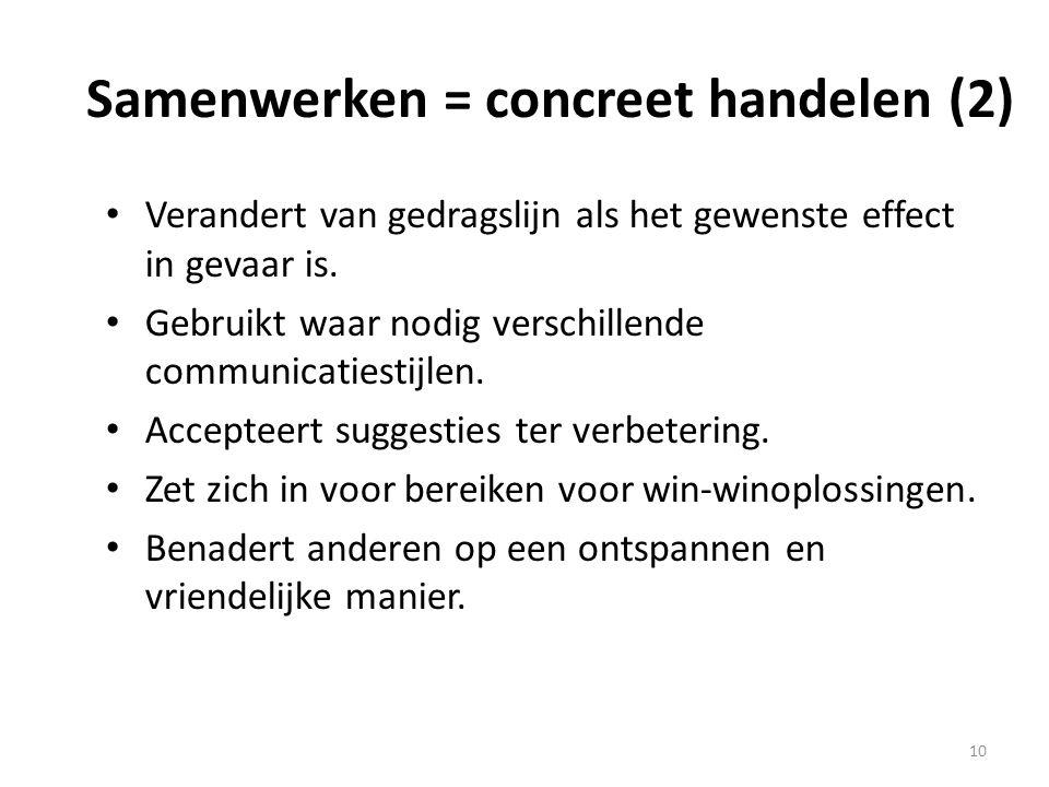 Samenwerken = concreet handelen (2)