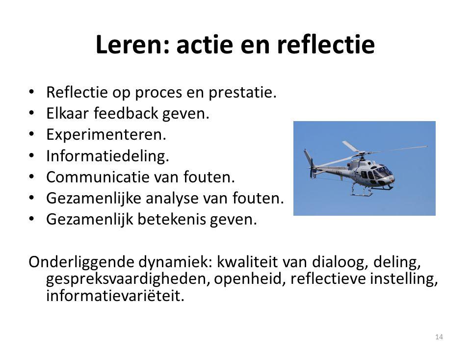 Leren: actie en reflectie