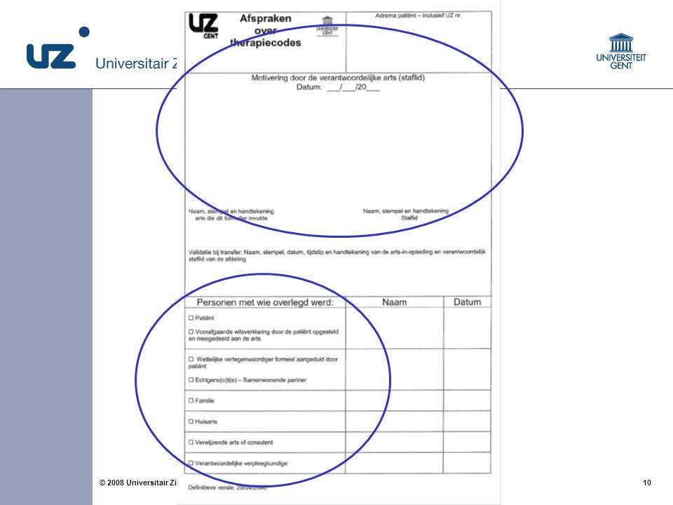 Om het belang van een kwaliteitsvol tot stand gekomen NTR beleid te benadrukken, werd op 1 jan 2008 een aangepast NTR formulier in ons ziekenhuis opgestart.