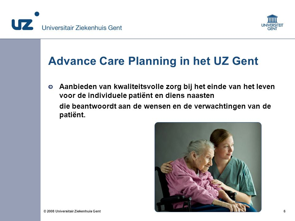 Advance Care Planning in het UZ Gent