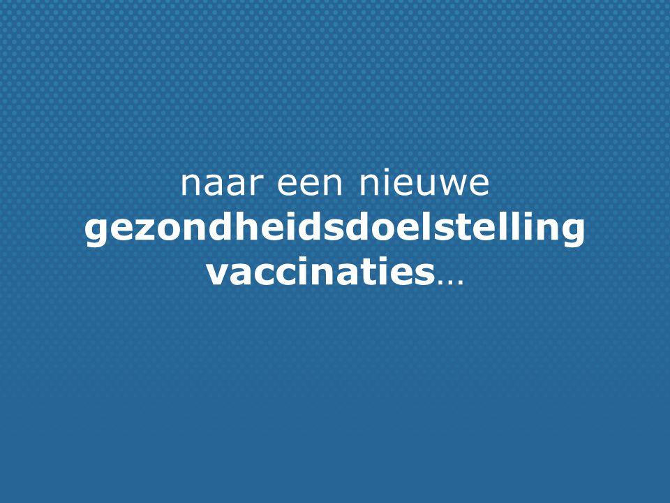 naar een nieuwe gezondheidsdoelstelling vaccinaties…