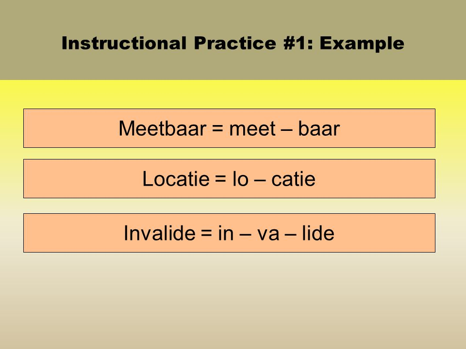 Instructional Practice #1: Example