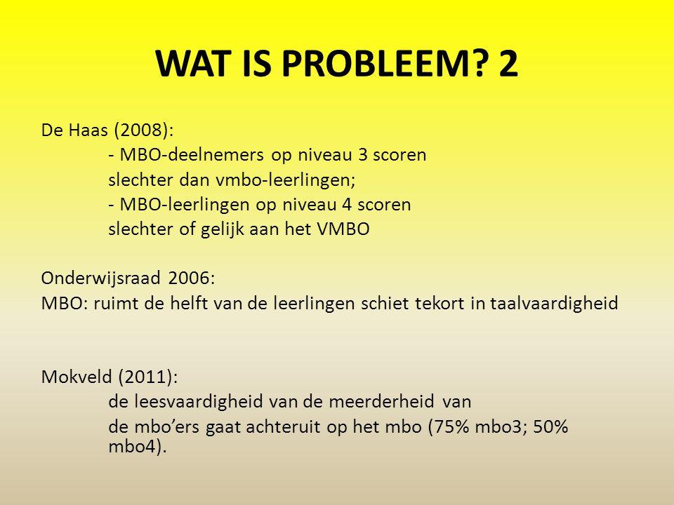 WAT IS PROBLEEM 2