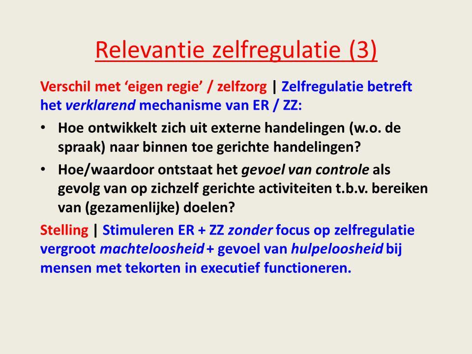 Relevantie zelfregulatie (3)