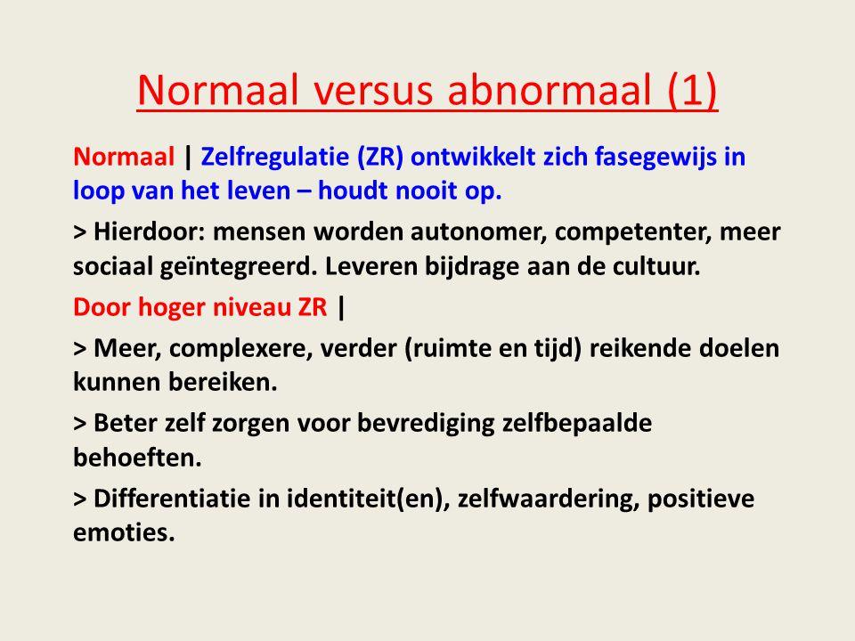Normaal versus abnormaal (1)