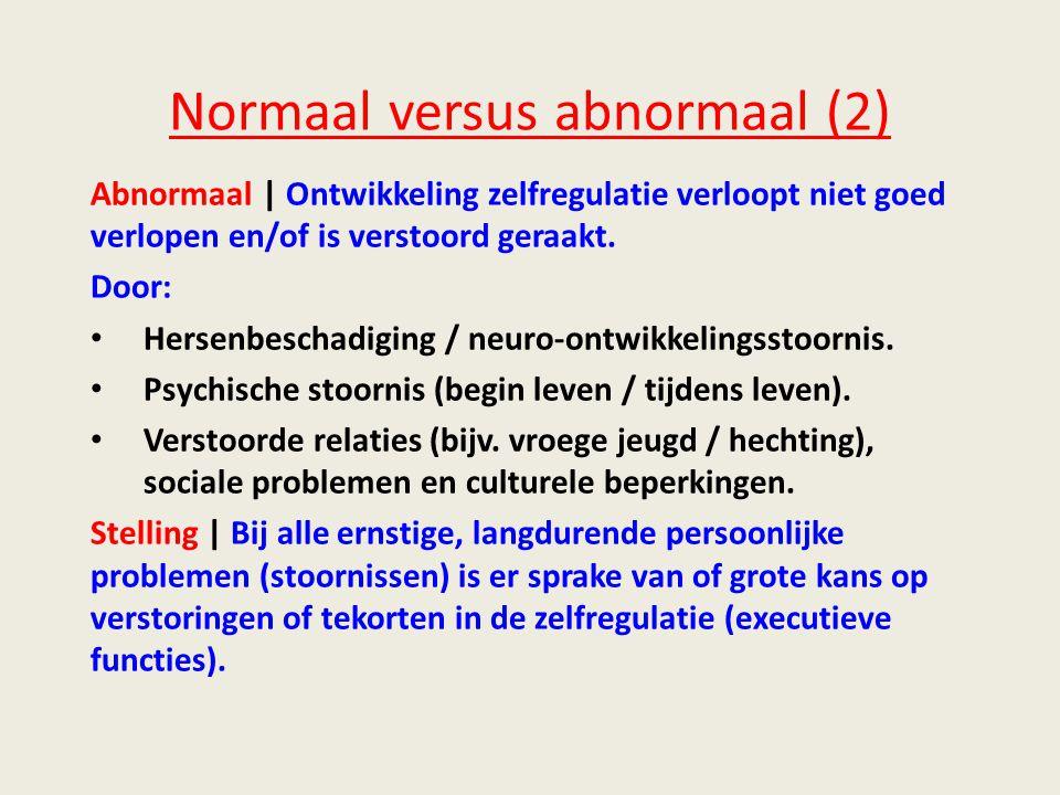 Normaal versus abnormaal (2)