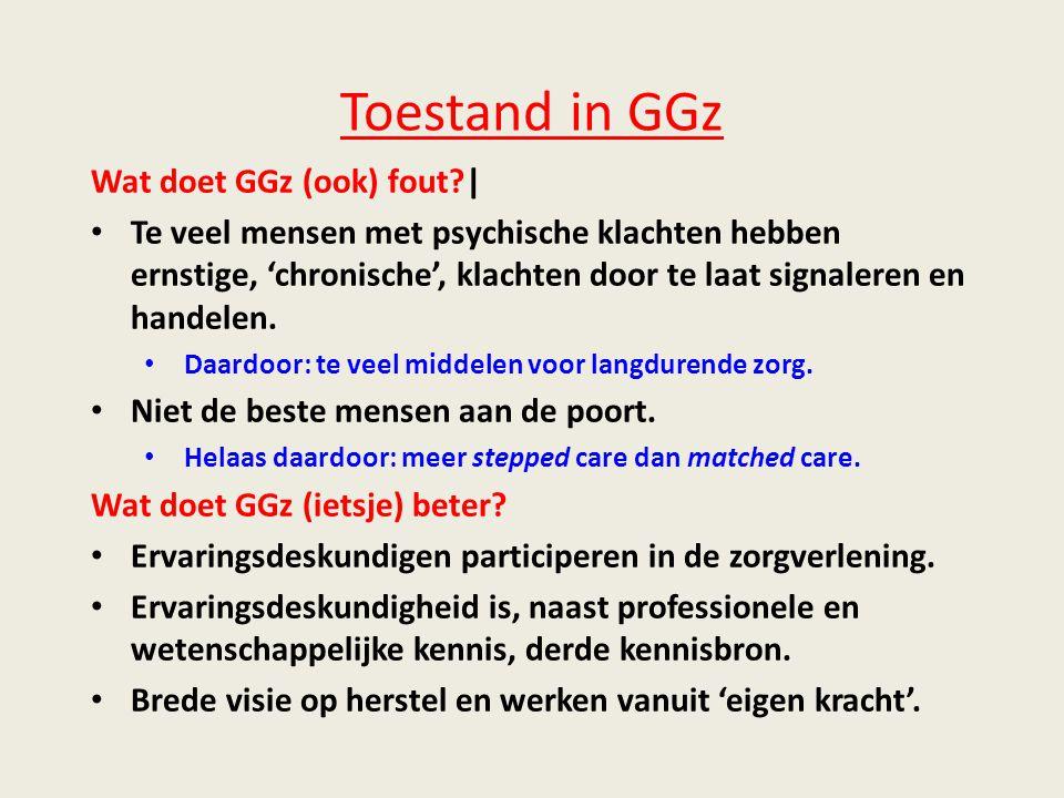 Toestand in GGz Wat doet GGz (ook) fout |