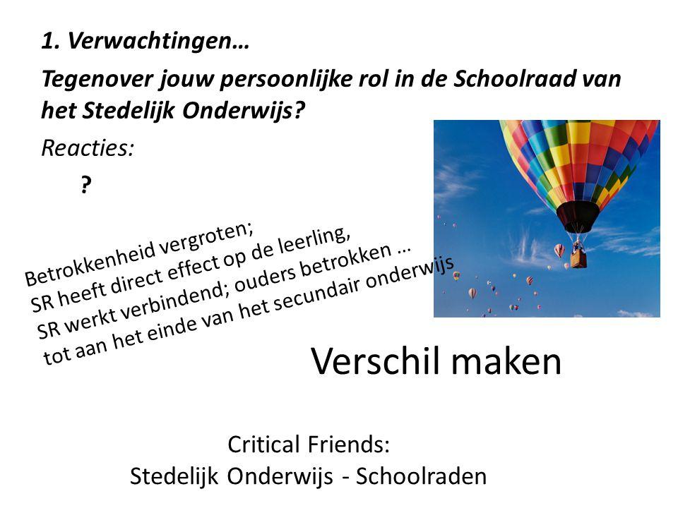 Stedelijk Onderwijs - Schoolraden
