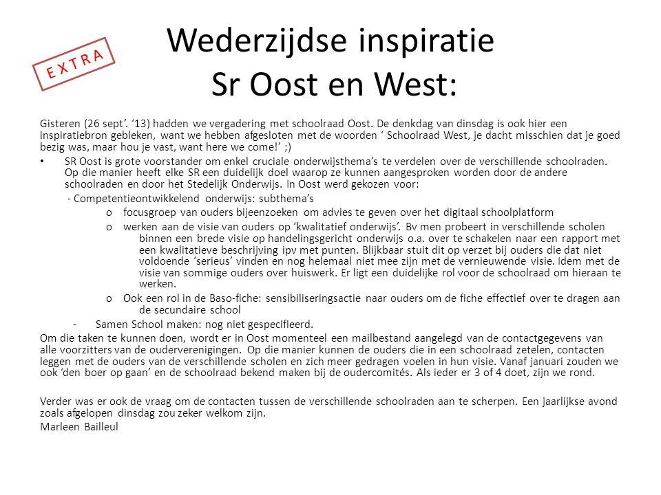 Wederzijdse inspiratie Sr Oost en West: