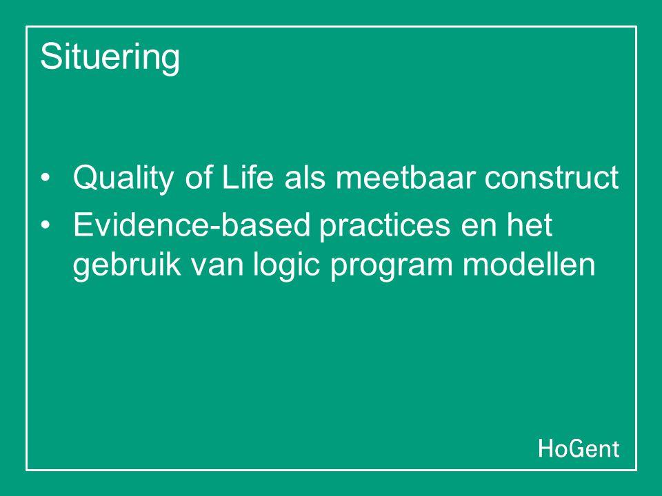Situering Quality of Life als meetbaar construct