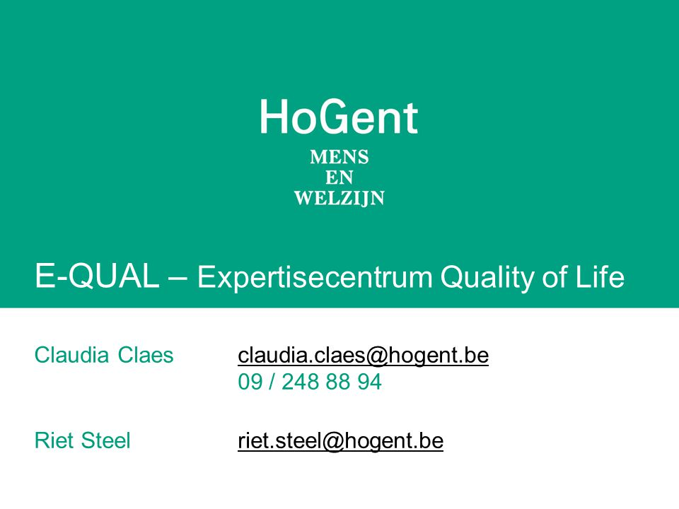 E-QUAL – Expertisecentrum Quality of Life