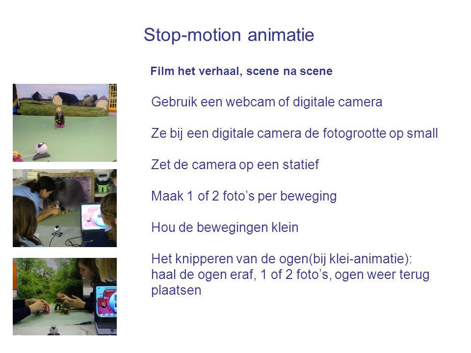 Stop-motion animatie Gebruik een webcam of digitale camera