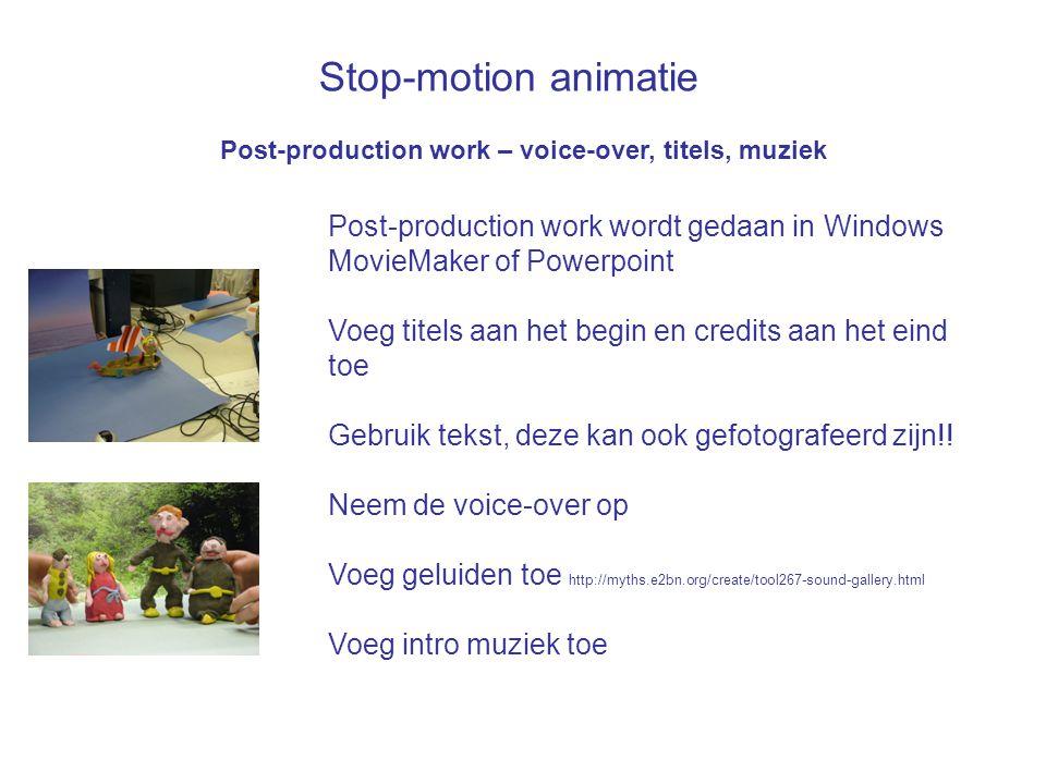 Stop-motion animatie Post-production work wordt gedaan in Windows