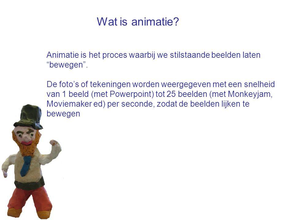 Wat is animatie Animatie is het proces waarbij we stilstaande beelden laten bewegen .