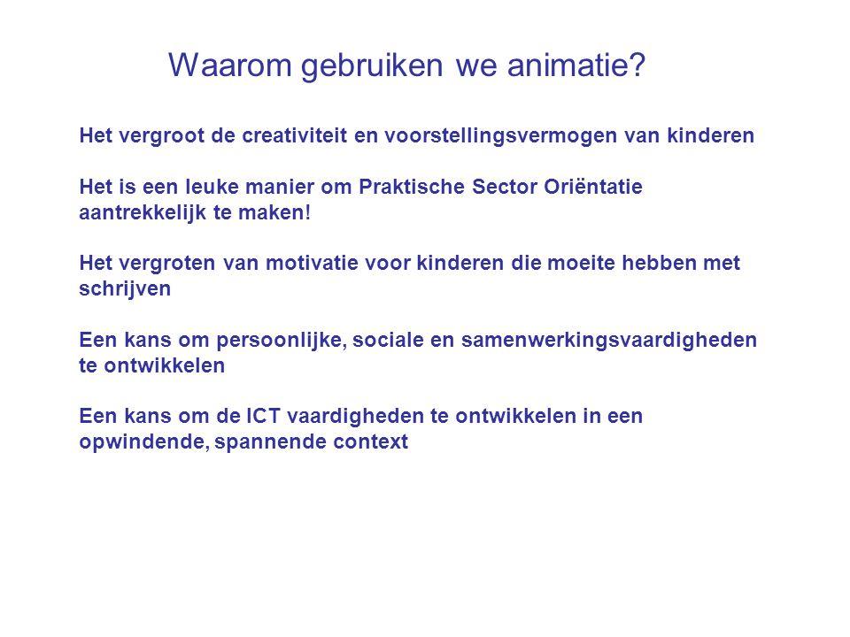 Waarom gebruiken we animatie