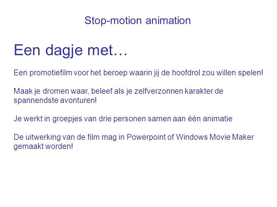 Een dagje met… Stop-motion animation