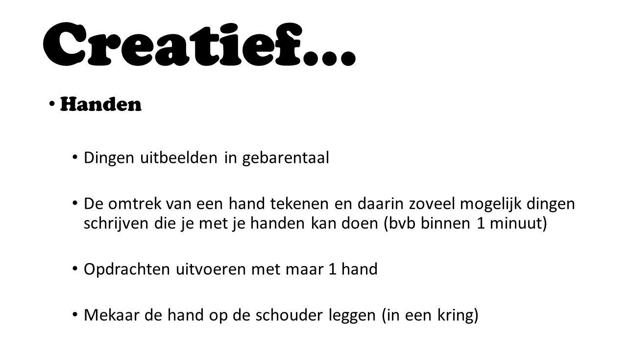 Creatief… Handen Dingen uitbeelden in gebarentaal
