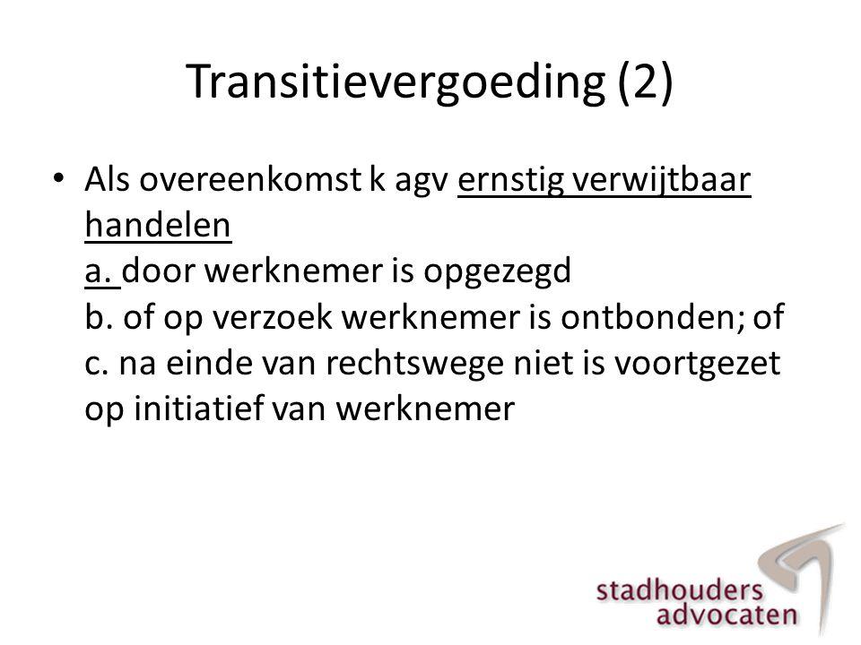 Transitievergoeding (2)