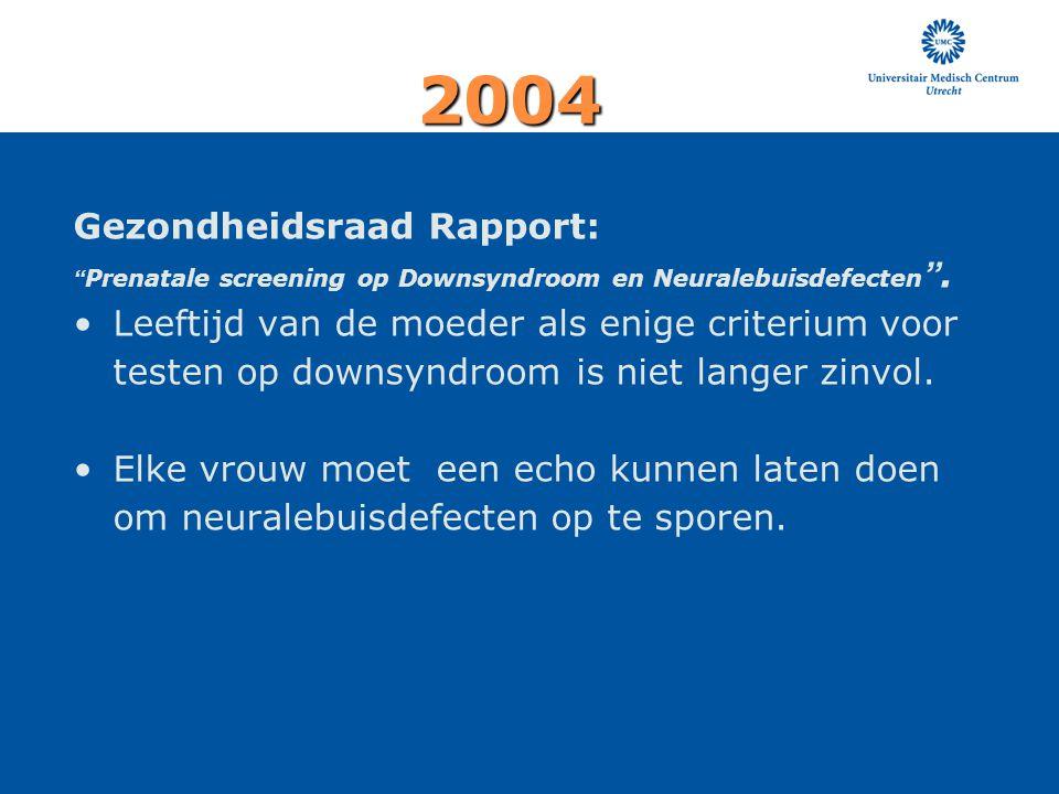 2004 Gezondheidsraad Rapport: