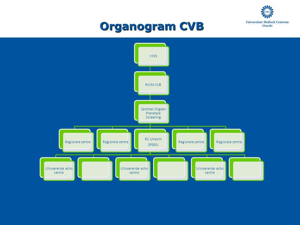 Organogram CVB VWS RIVM-CVB Centraal Orgaan Prenatale Screening