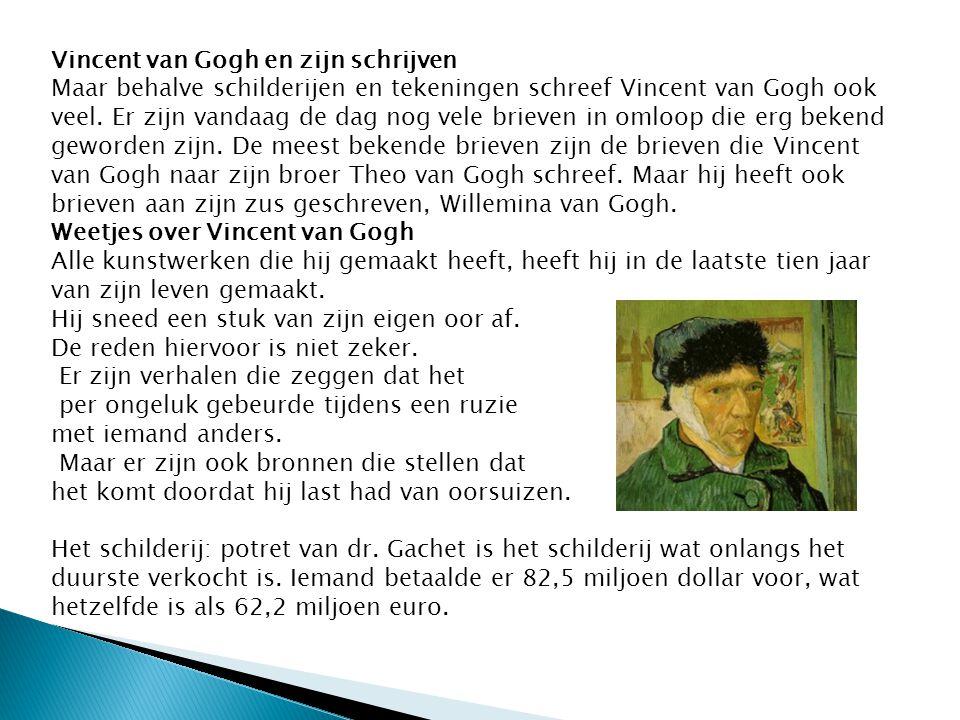 Vincent van Gogh en zijn schrijven