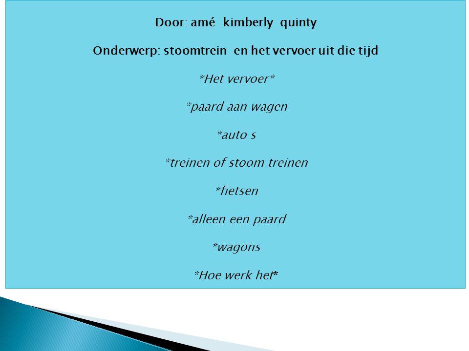 Door: amé kimberly quinty