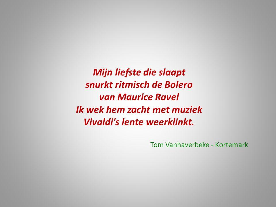 Mijn liefste die slaapt snurkt ritmisch de Bolero van Maurice Ravel