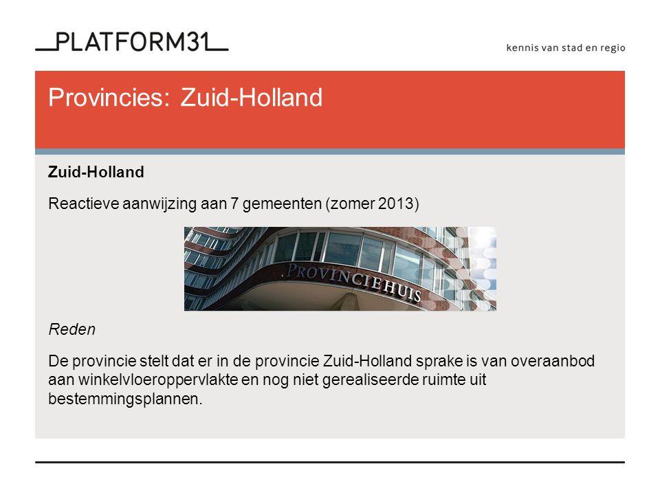 Provincies: Zuid-Holland