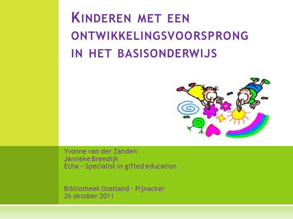 Kinderen met een ontwikkelingsvoorsprong in het basisonderwijs