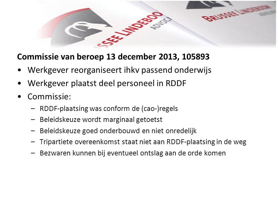Commissie van beroep 13 december 2013, 105893
