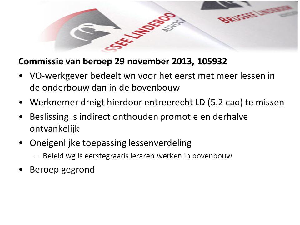 Commissie van beroep 29 november 2013, 105932