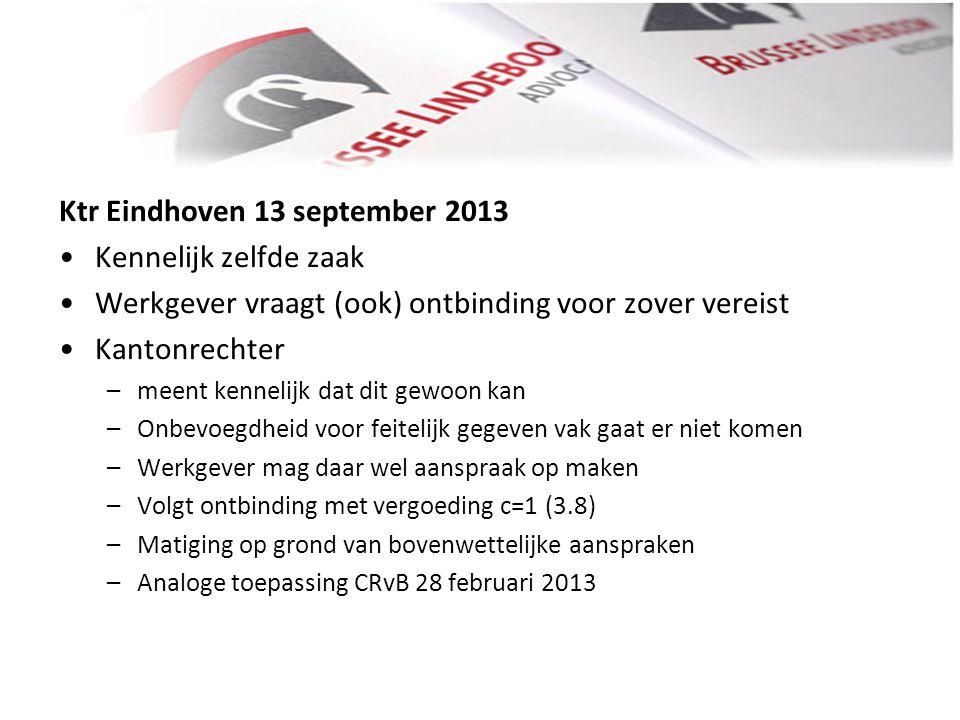 Ktr Eindhoven 13 september 2013 Kennelijk zelfde zaak