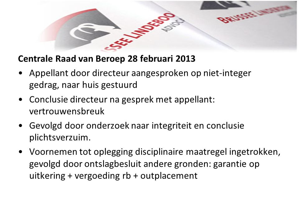 Centrale Raad van Beroep 28 februari 2013