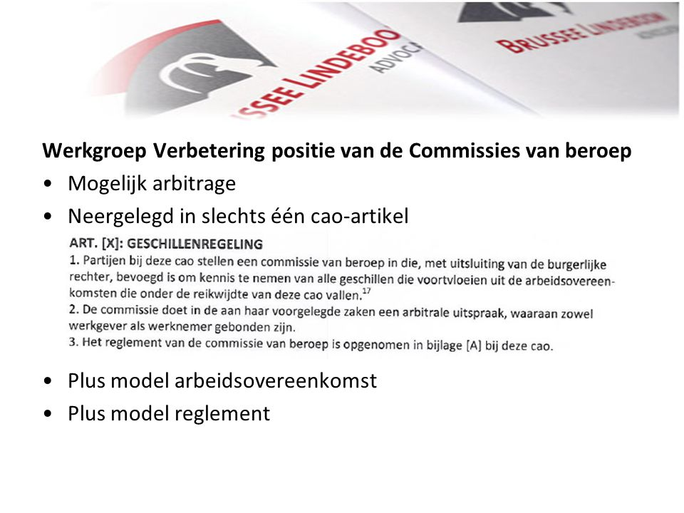 Werkgroep Verbetering positie van de Commissies van beroep
