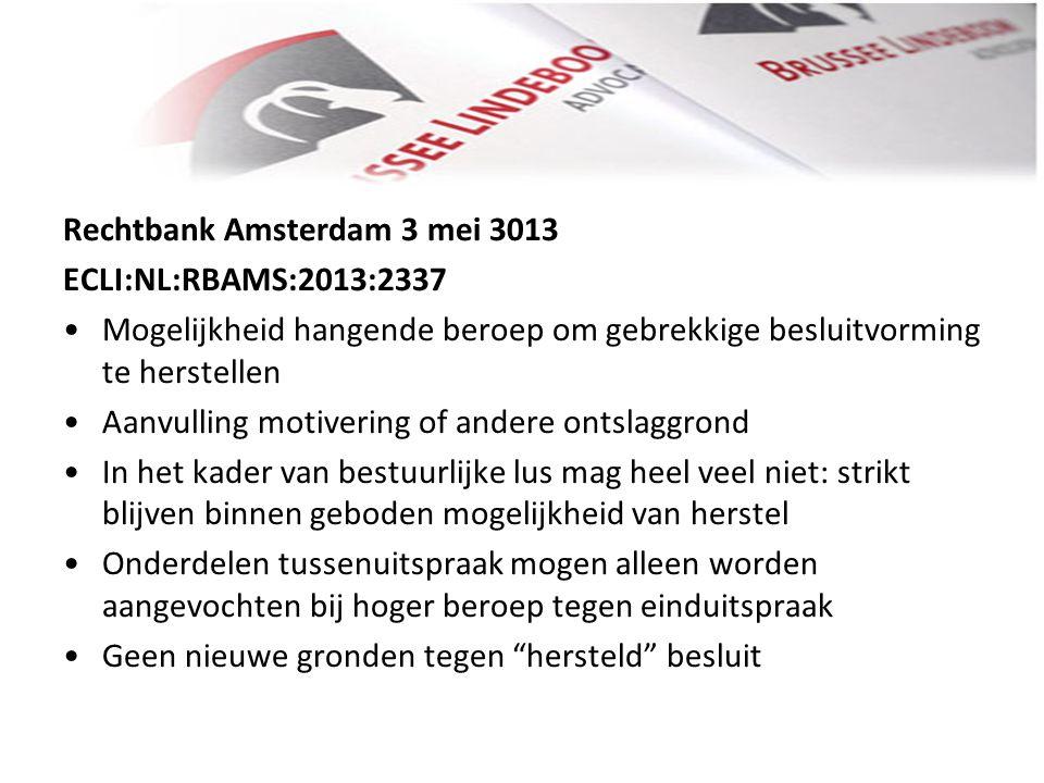Rechtbank Amsterdam 3 mei 3013