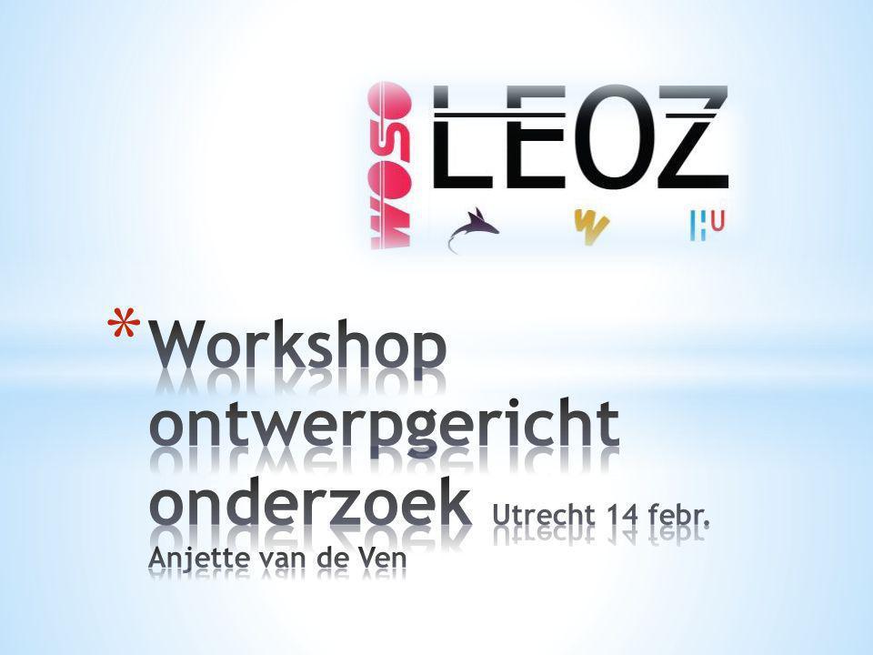 Workshop ontwerpgericht onderzoek Utrecht 14 febr. Anjette van de Ven