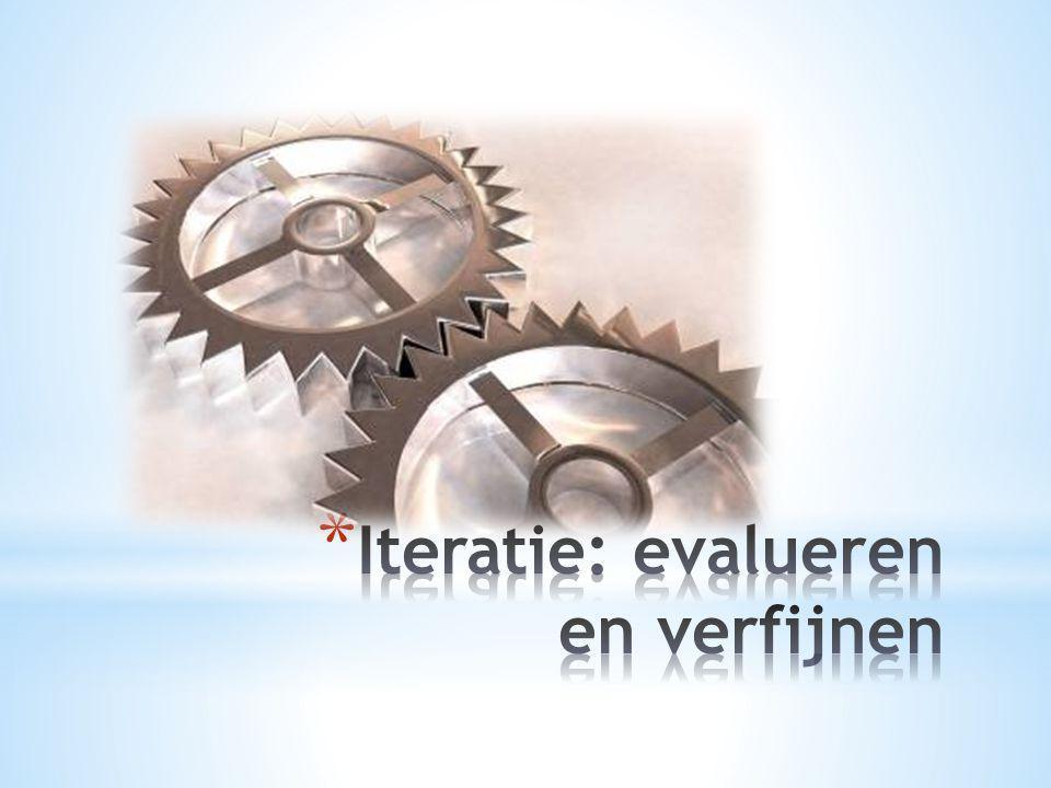 Iteratie: evalueren en verfijnen