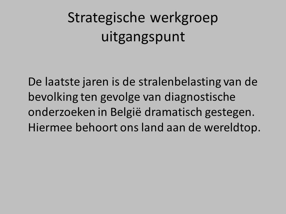 Strategische werkgroep uitgangspunt