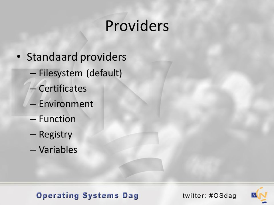 Providers Standaard providers Filesystem (default) Certificates